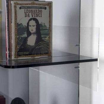 Librería de pared de diseño contemporáneo en plexiglás ahumado Sfera4