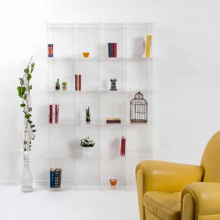 Librería de pared de diseño contemporáneo en plexiglás transparente Sfera4