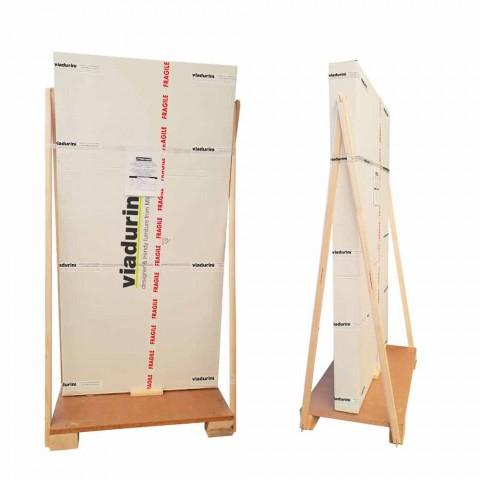 Biblioteca de pared de diseño con 3 estantes hechos a mano en Italia Nicla