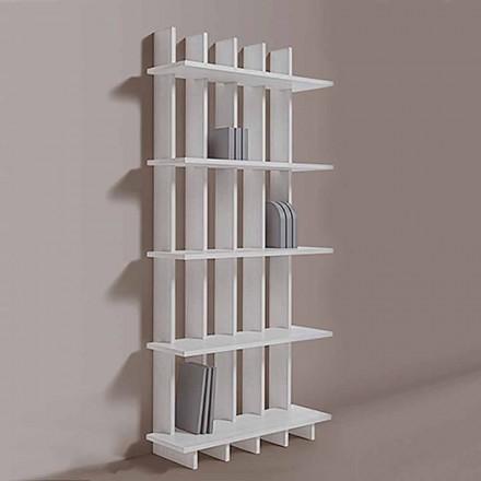 Librería de pared Shabby Chic en madera de fresno de diseño moderno - Babele