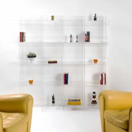 Librería independiente / de pared de diseño moderno Pam transparent