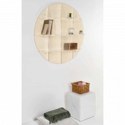Librería de pared de diseño moderno beige Gio, hecha en Italia.