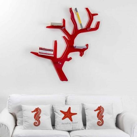 Librería roja de la pared del diseño moderno de Carol, hecha en Italia