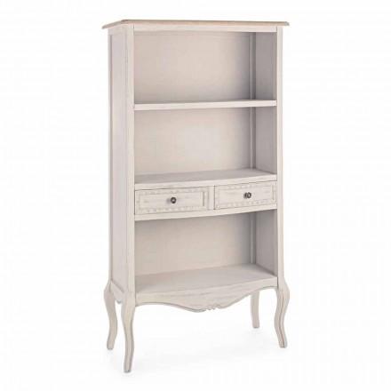 Librería de suelo de diseño clásico con estructura de madera Homemotion - Jollie