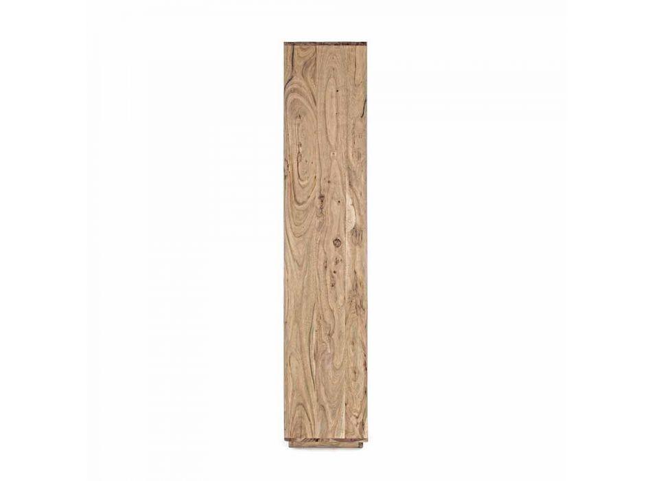 Biblioteca de suelo moderna Homemotion con estructura de madera de acacia - Genza