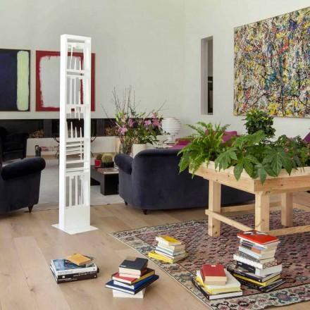 Estantería moderna de piso con estantes de metal blanco Hecho en Italia - Bolivia