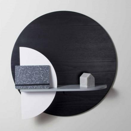 Estantería de diseño en multicapa barnizada compuesta por paneles modulares - Livia