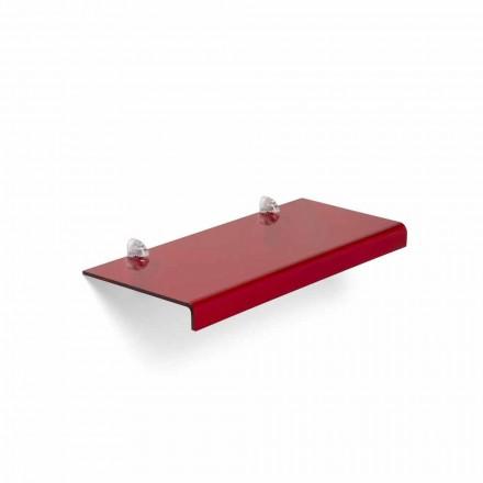 Estantería de diseño moderno L90xP22 cm metacrilato, Polly