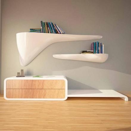 Estantería de diseño moderno producida en Italia, Sizzano.