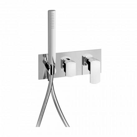 Mezclador de ducha empotrado de diseño moderno en latón Made in Italy - Sika