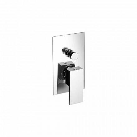 Mezclador de ducha o bañera empotrado de diseño moderno Made in Italy - Panela