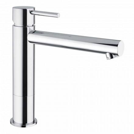 Mezclador de lavabo de baño de latón cromado sin desagüe Made in Italy - Ermia