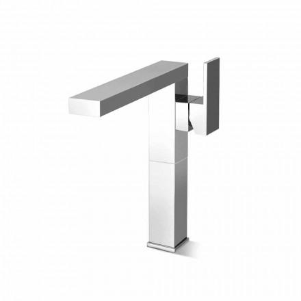 Mezclador de lavabo de caño largo 20 cm de extensión de latón Made in Italy - Panela