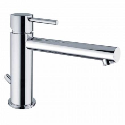 Mezclador de lavabo de latón con caño 170 mm distancia entre ejes Made in Italy - Ermia