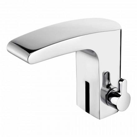 Mezclador de lavabo con sensor de infrarrojos en latón cromado, lujo - Gonzo