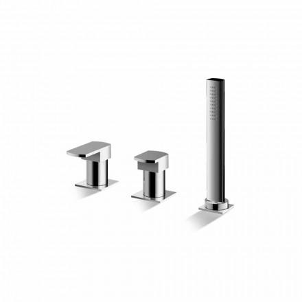 Mezclador de bañera cromado de 3 orificios Made in Italy - Sika