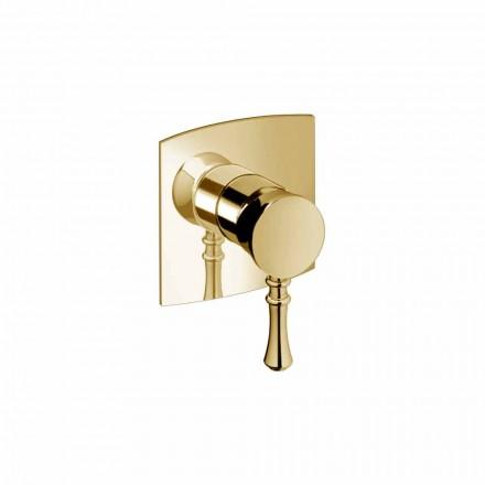 Mezclador de ducha empotrado en latón de diseño moderno Made in Italy - Neno