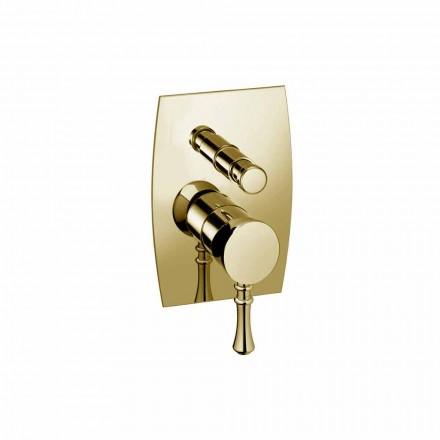 Mezclador de ducha o bañera de latón de diseño Made in Italy - Neno