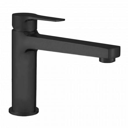 Mezclador de lavabo de baño con desagüe de latón Made in Italy - Sindra