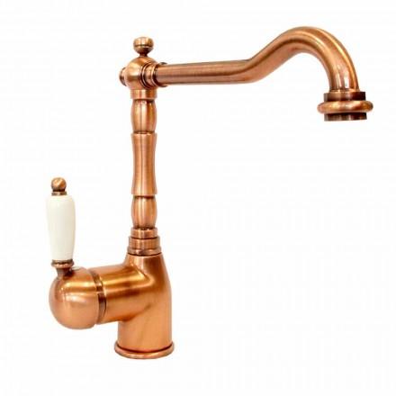Mezclador de latón de diseño clásico para lavabo de cocina Made in Italy - Carmel