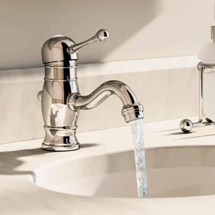 Mezclador de lavabo en latón cromado de 150 mm de alto Made in Italy - Binsu