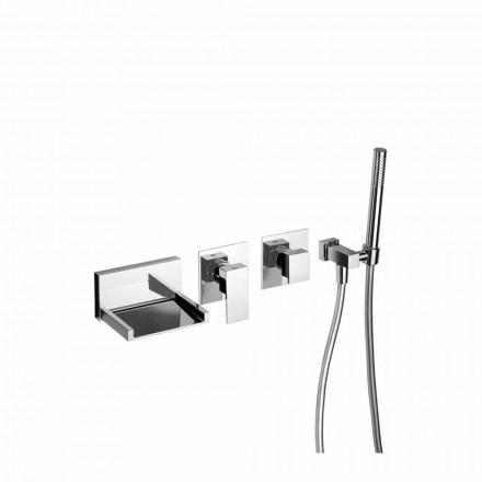 Mezclador de baño empotrado con kit de ducha Made in Italy - Bibo
