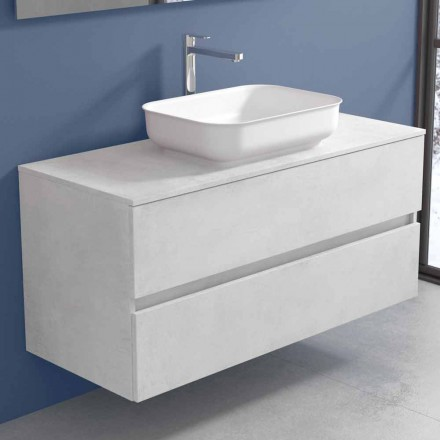 Mueble de baño suspendido con lavabo de diseño en 4 acabados - Paoletto