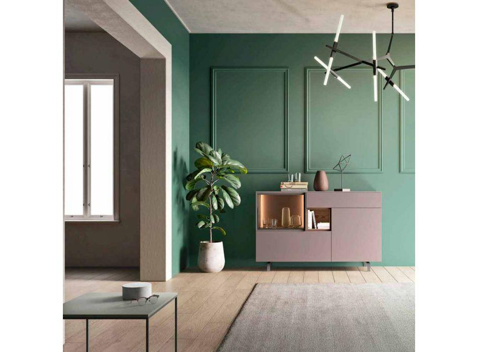 Aparador Mueble para Entrada o Salón en Diseño Ecológico de Madera y Vidrio - Bruno
