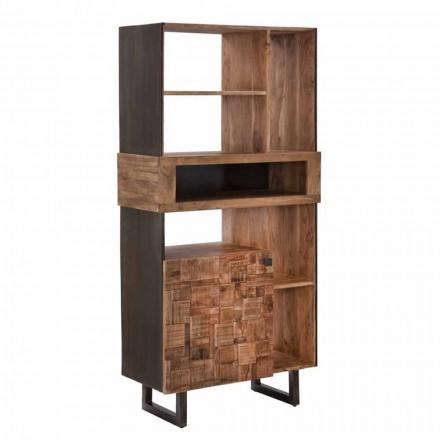 Librería de diseño en hierro y madera de acacia - Desdemona