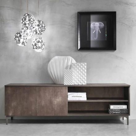 Mueble de TV moderno de dos puertas de madera de melamina hecho en Italia - Clemente