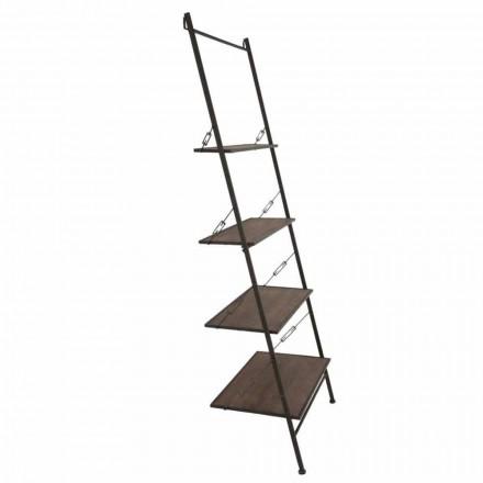 Gabinete de escalera de estilo industrial de diseño moderno en madera y metal - Denes
