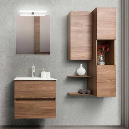 Mueble de baño 60 cm, espejo, lavabo y columna - Becky