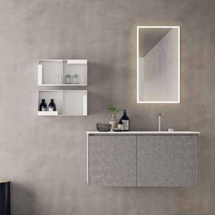Mobiliario suspendido de diseño, composición de baño moderno - Callisi9