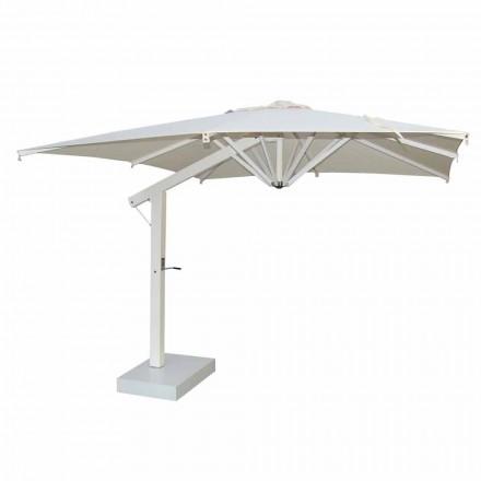 Sombrilla de jardín 300x400 cm en aluminio blanco o antracita - Lapillo