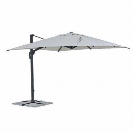 Paraguas de exterior, 3x3 con tela gris claro y estructura de antracita - Dalton