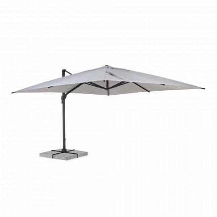 Paraguas de exterior 4x4 en poliéster y aluminio gris claro - Daniel