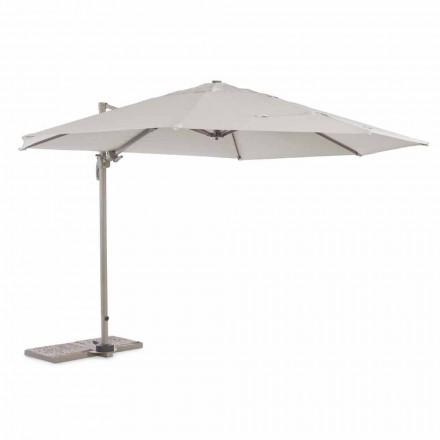 Paraguas de exterior, 3,5 m de diámetro en poliéster con poste de aluminio - Linfa