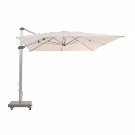 Paraguas de exterior 3x4 repelente al agua con poste de aluminio - Zeus by Talenti