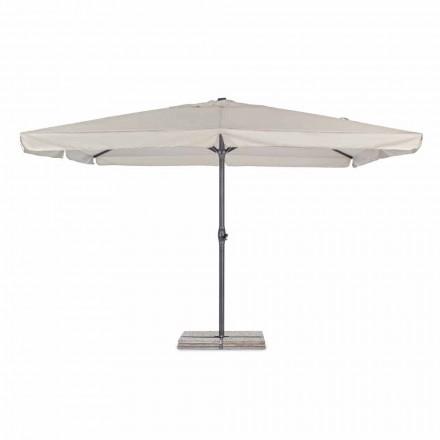 Sombrilla de jardín 4x4 con tela de poliéster y base de acero - Nastio