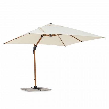 Paraguas de exterior, 3x3 en aluminio con cubierta de poliéster beige - Leano