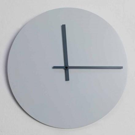 Reloj de pared redondo de diseño moderno gris y azul hecho en Italia - Umbriel