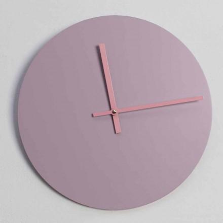 Reloj de pared redondo de madera Made in Italy - Imalia