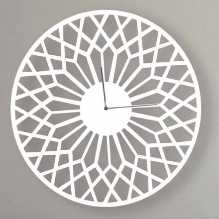 Reloj de pared de diseño moderno y grande en madera redonda de colores - Dandalo