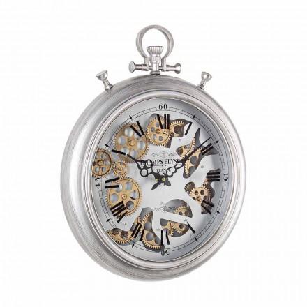 Reloj de pared en acero y vidrio Diseño Vintage Homemotion - Gringo