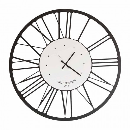 Reloj de pared de hierro de diseño Made in Italy - Gioele