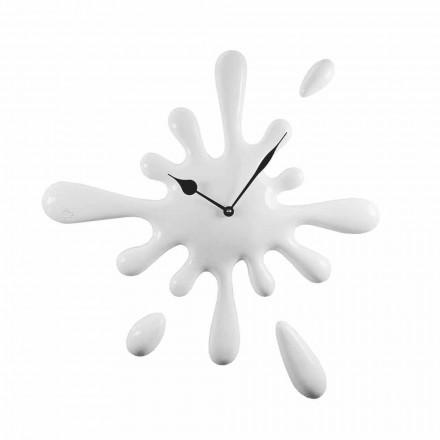 Reloj de pared de diseño moderno hecho a mano en resina Made in Italy - Limón