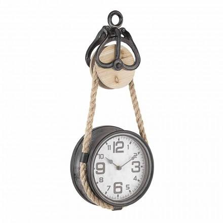 Reloj de pared de diseño vintage en acero y vidrio Homemotion - Edvige