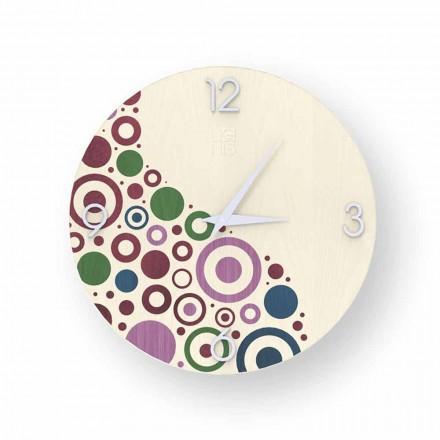 Reloj de pared Curno en diseño moderno, hecho en Italia.