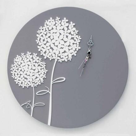 Reloj de pared de madera gris decorado redondo de diseño moderno - Ducha de techo