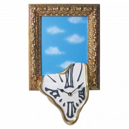 Reloj de pared con marco de fotos en resina Made in Italy - Bigno